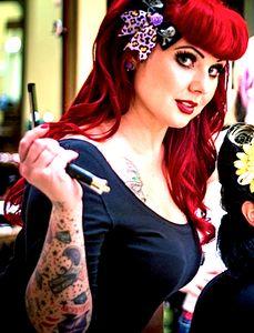 Psychobilly Rose & Metal Crossbones Earrings - LURID LILAC by Punk Up Bettie
