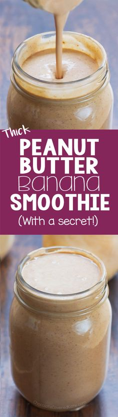 ultra thick and creamy peanut butter banana smoothie recipe that tastes like a milkshake but is actually good for you! ultra thick and creamy peanut butter banana smoothie recipe that tastes like a milkshake but is actually good for you! Good Smoothies, Breakfast Smoothies, Smoothie Drinks, Fruit Smoothies, Smoothie Recipes, Nutribullet Recipes, Vegetarian Smoothies, Homemade Smoothies, Detox Drinks