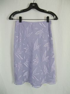 LAUNDRY BY SHELLI SEGAL Skirt Purple Floral Print Side Zip Lined Casual 4 S #LaundrybyShelliSegal #StraightPencil