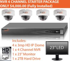 CCTV Special 2 - High Definition 1080P The system is fully installed, hard wired and connected to the mains power.