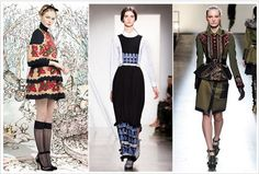 Top London Fashion Week 2013 Trends | folkloric