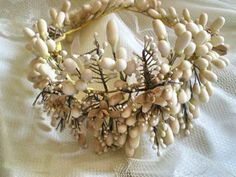French antique wax headdress