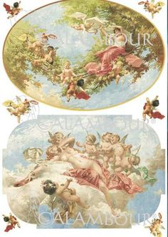 Cherubs and Little Angels Rice Paper