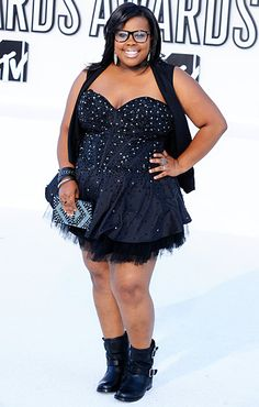 09.12.2010, Los Angeles, CA: 'Glee' star Amber Riley rocks an outfit that is…