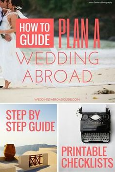 Your step by step guide to destination weddings.So this is where your journey begins…let's start planning your wedding abroad! Wedding abroad planning checklists, destination wedding etiquette, hints & tips on choosing your wedding venue plus so much The Plan, How To Plan, Wedding Etiquette, Wedding Timeline, Budget Wedding, Wedding Planner, Wedding Venues, Wedding Ceremony, Do It Yourself Wedding