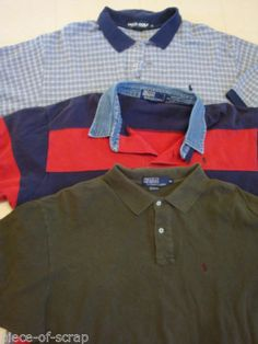 Lot of 3 RALPH LAUREN Polo Mens Golf Shirts XXL 2XL CLASSIC Short Sleeve Shirt #ralphlauren #polo
