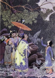 Satakieli - Nightingale, fairy tale by H. Chinese Fairy Tales, Nightingale, View Image, Travel Posters, Fairy Tail, Mythology, Cool Photos, Folk, Illustration Art