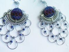 Large Sterling Earrings / Chandelier Earrings / Statement Earring / Unique Jewelry / Pieced Silver Earrings / Sterling / Free Ship by TamJewelryandUniques on Etsy https://www.etsy.com/listing/250074915/large-sterling-earrings-chandelier