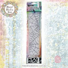 Dyan Reaveley's Dylusions Cobweb Stamp and Stencil Set can be used on scrapbooking, mixed media, card making projects & even home decor! Get it now at mixedmediastore.com.au :)