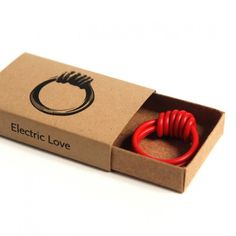 "Electric Love Bangle ""electric love"" rings (& bangles) Hand-knotted reclaimed electrical wire - - http://www.graindesign.com/Electric-Love-Bangle_p_23.html"