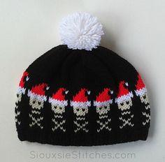 Santa Skulls Hat by Siouxsie Stitches - free