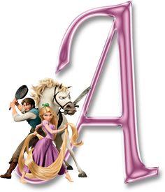 Alfabetos Lindos: Alfabeto decorativo enrolados rapunzel em png