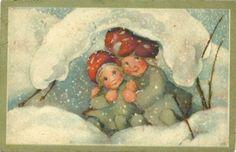 Mili Weber. Toadstool head children shelter in snow (02/23/2012)