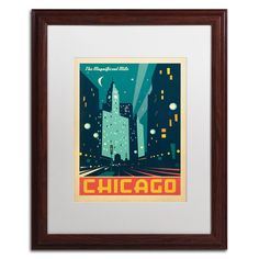 'Chicago III' by Anderson Design Group Framed Graphic Art