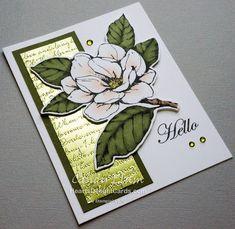 magnolia stamps stampin up Stampin Up Karten, Magnolia Flower, Stamping Up Cards, Sympathy Cards, Paper Cards, Scrapbooking, Flower Cards, Greeting Cards Handmade, Homemade Cards