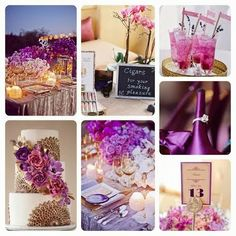 Radiant Orchid. Pantone Wedding Color Palette by Queen Bee