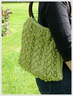Cable Knit Purse