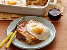 If you have trouble deciding on sweet or savory for brunch, make this Croque Madame casserole. Its the best of both worlds.