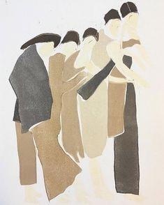 """monoprint on paper by renée gouin 🏷"" Art And Illustration, Illustrations, Wallpaper Bonitos, Modern Art, Contemporary Art, Wow Art, Art Graphique, Art Inspo, Collage Art"
