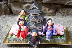 Tasty treat: All 40 of the one of a kind creations, including this Japanese pagoda, complete with kimono-clad geishas and even a ninja are featured in September¿s edition of the Cake Masters magazine