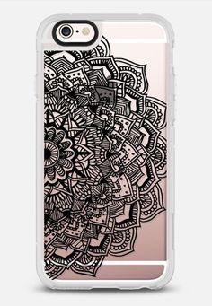Black Lace Mandala iPhone 6s case by Laurel Mae | Casetify
