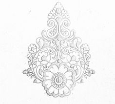 Flower type butta/buti khaka design drawing for hand emroidery saree design. All over butta butta khaka design drawing for hand works and machine embroidery work. Indian Embroidery Designs, Floral Embroidery Patterns, Hand Work Embroidery, Embroidery Motifs, Embroidery Monogram, Embroidery Fashion, Machine Embroidery, Flower Pattern Drawing, Pattern Sketch