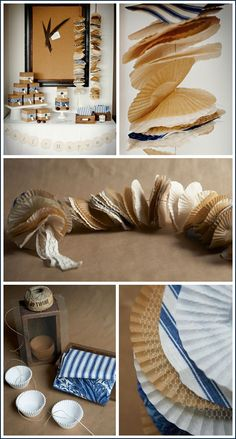 Cupcake Liners .. with other paper additions (or fabric) make great quick and easy (and inexpensive) decorating ideas for any season or holiday!
