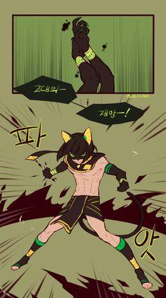 Work by 커미션하는별토끼렉스. Egyptian black cat