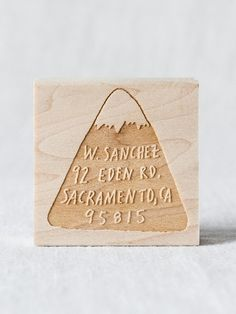 A return address stamp perfect for mountain dwellers.