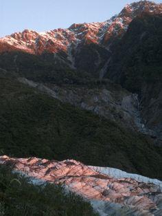 Fox Glacier at sunset