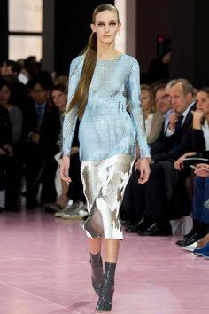 Maglia rete celeste Dior collezione Dior autunno/inverno 20152016