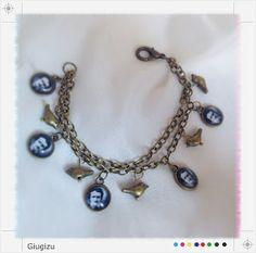 Edgar Allan Poe inspired bracelet, more infos on my blog here: http://giugizu.blogspot.it/2014/01/edgar-allan-poe-accessories-accessori.html