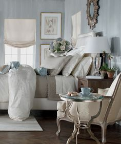Soothing Grey U0026 Soft Blue Tones In This Ethan Allen Bedroom