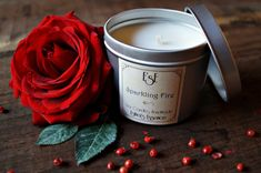 Soy Candle 6oz Jasmine Bitter Orange Sparkling Fire Tin