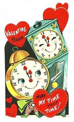 Romantic Valentine LOVE Garland Bunting Banner Vintage Style vintage valentine's card berries Calico Cat Print by Gingiber Vintage Valentine. Valentine Images, My Funny Valentine, Vintage Valentine Cards, Vintage Greeting Cards, Vintage Holiday, Valentine Day Cards, Vintage Postcards, Happy Valentines Day, Vintage Clocks