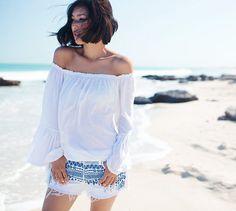 The New Off-Shoulder Fashion Trend for Summer 2014  #offshoulder #fashion