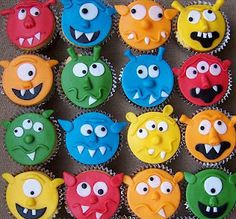 Monster cupcakes - via pretty cute party