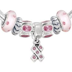 Pandora Breast Cancer Awareness Set  and many other charms and beads. I have one done in white, crystal and silver.