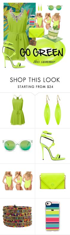 """""""go green"""" by traceyenorton ❤ liked on Polyvore featuring Alexis Bittar, gx by Gwen Stefani, Giuseppe Zanotti, Dippin' Daisy's, Tory Burch and Casetify"""