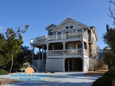 $1,695, 5 bed, 5 bath, sleeps 11.  S Nags Head/Hattaras Seashore, Pool, fence, across street from beach, pool table, playstation, volleyball net, horshes, beach toys, beach chairs, outside sound system