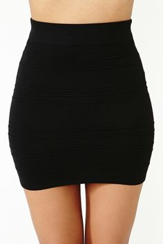 Aplain black bodycon skirt- goes with everything, probably the most versailtile thing I own.