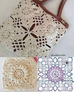 Bag Crochet, Crochet Handbags, Crochet Purses, Crochet Chart, Crochet Motif, Crochet Clothes, Crochet Flowers, Crochet Stitches, Free Crochet
