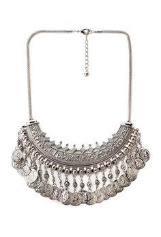 Worldly Statement Necklace | FOREVER21 #Accessories #Bib #Silver  PLEASE PLEASE PLEEEEAASE