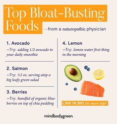 4 Bloat-Busting Foods This Naturopathic Doctor Recommends To Her Patients Healthy Eating Recipes, Whole Food Recipes, Healthy Life, Healthy Living, Naturopathic Physician, Body Detoxification, Lemon Water, Gut Health, Organic Recipes