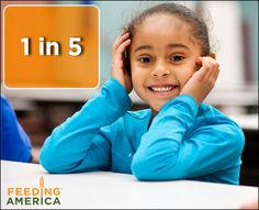 1 in 5 children face hunger. Visit feedingamerica.org to learn how you can help us in the fight against hunger!
