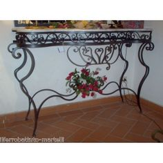 Wrought Iron Consolle Furniture. Customize Realizations. 322 Wrought Iron, Entryway Tables, Console, Furniture, Home Decor, Decoration Home, Room Decor, Consoles, Home Furniture