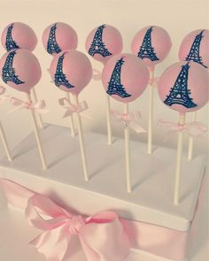 Eiffel tower cake pops by dreamy delights cupcakery