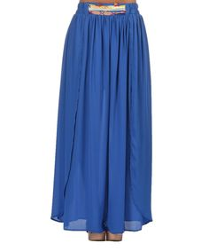 Look at this Blue Britney Maxi Skirt on #zulily today!