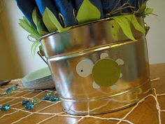 turtle party...decor for party flatware. simple and cute.