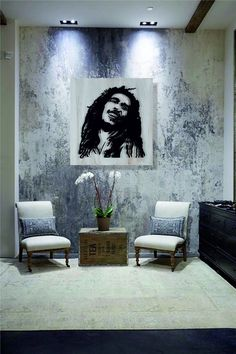 Custom design metal table Bob Marley 60$